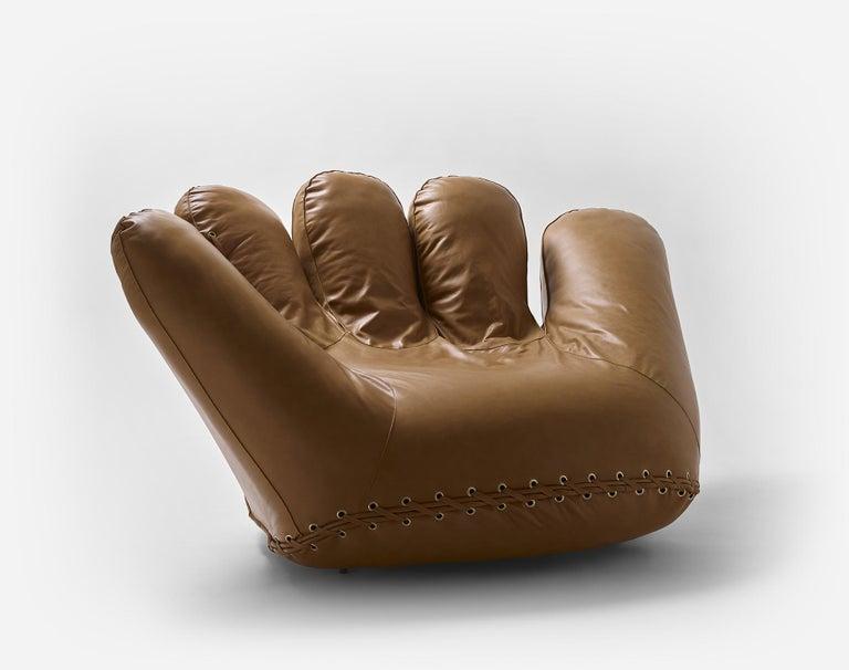Contemporary Leather 'Joe' Chair Designed by De Pas, D'Urbino, Lomazzi for Poltronova, Italy For Sale