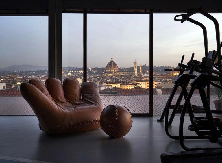 Metal Leather 'Joe' Chair Designed by De Pas, D'Urbino, Lomazzi for Poltronova, Italy For Sale