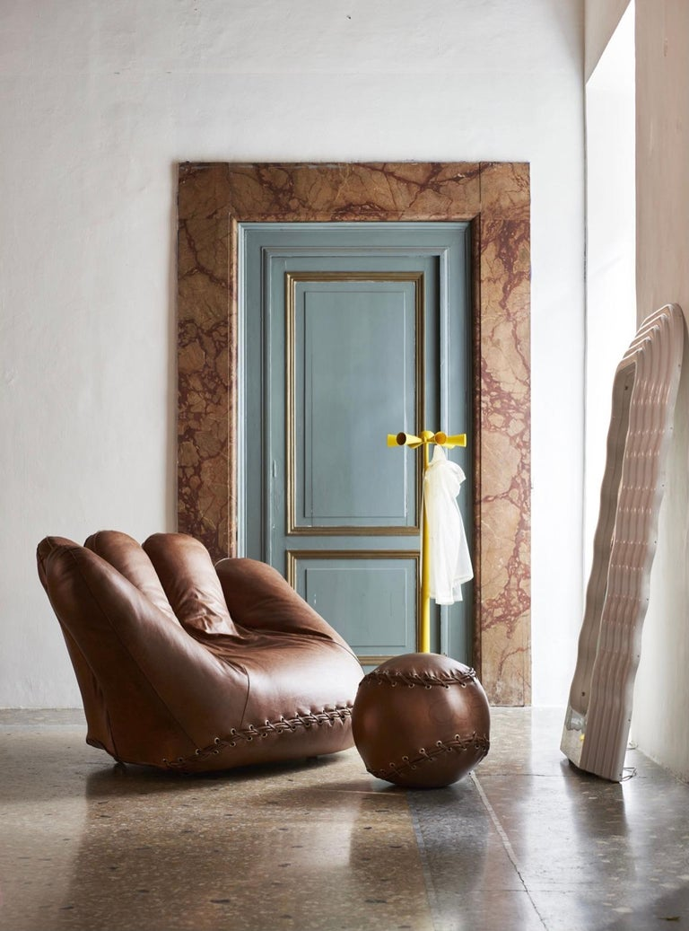 Leather 'Joe' Chair Designed by De Pas, D'Urbino, Lomazzi for Poltronova, Italy For Sale 2