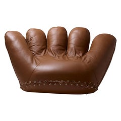 Leather 'Joe' Chair Designed by De Pas, D'Urbino, Lomazzi for Poltronova, Italy