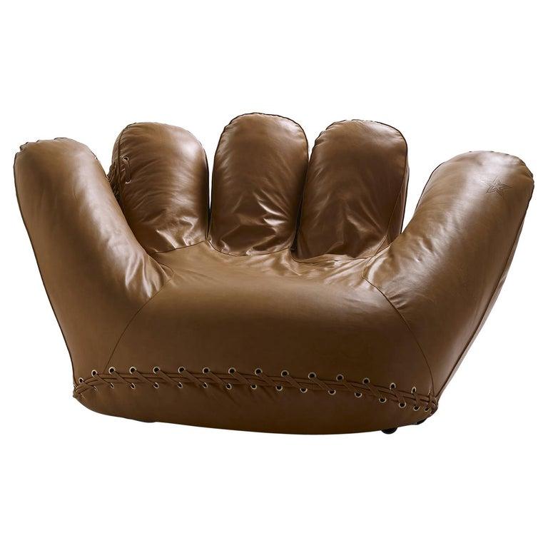 Leather 'Joe' Chair Designed by De Pas, D'Urbino, Lomazzi for Poltronova, Italy For Sale