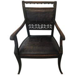 Leather Library/Occasional Chair, Early 20th Century