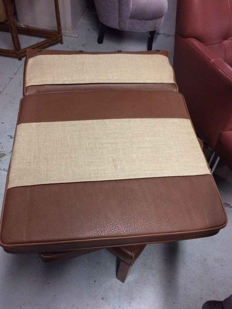 Leather Lounge Chair and Ottoman by Borge Mogensen For Sale 1