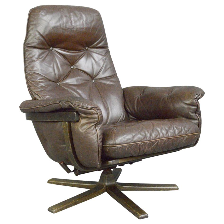 Leather Lounge Chair by G Mobel, circa 1960s