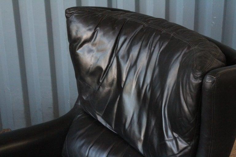 Leather Lounge Chair by Kurt Østervig, Denmark, 1950s For Sale 3