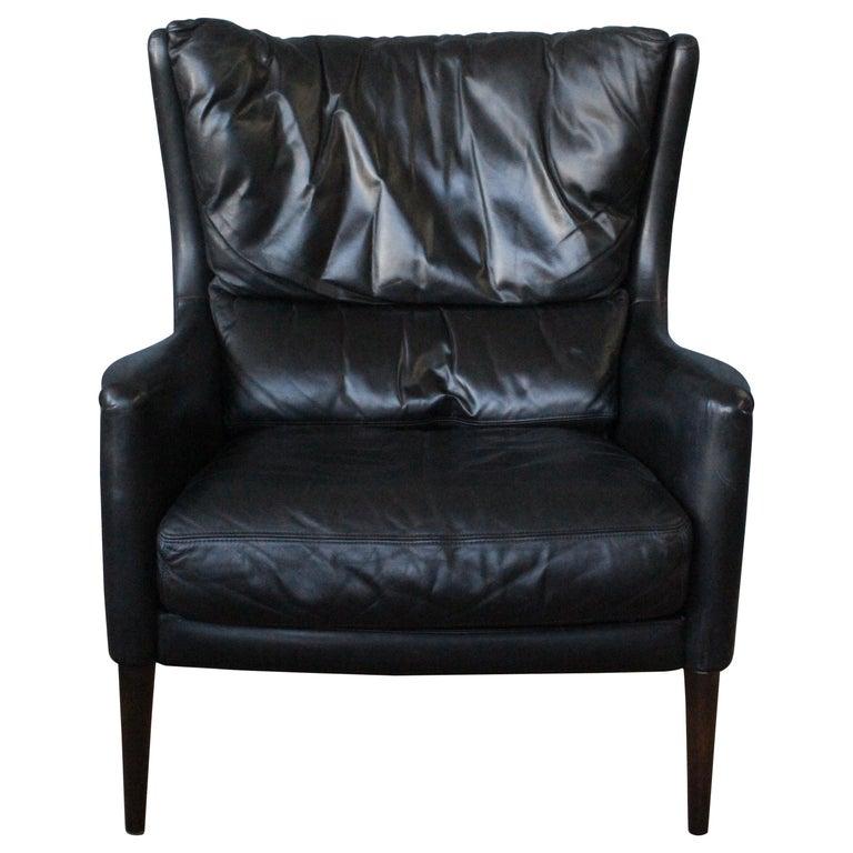 Leather Lounge Chair by Kurt Østervig, Denmark, 1950s For Sale