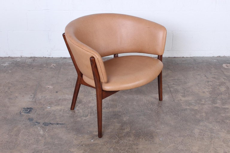Mid-20th Century Leather Lounge Chair by Nanna Ditzel For Sale