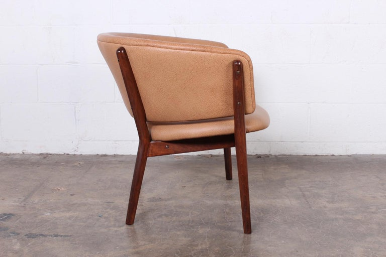 Leather Lounge Chair by Nanna Ditzel For Sale 1