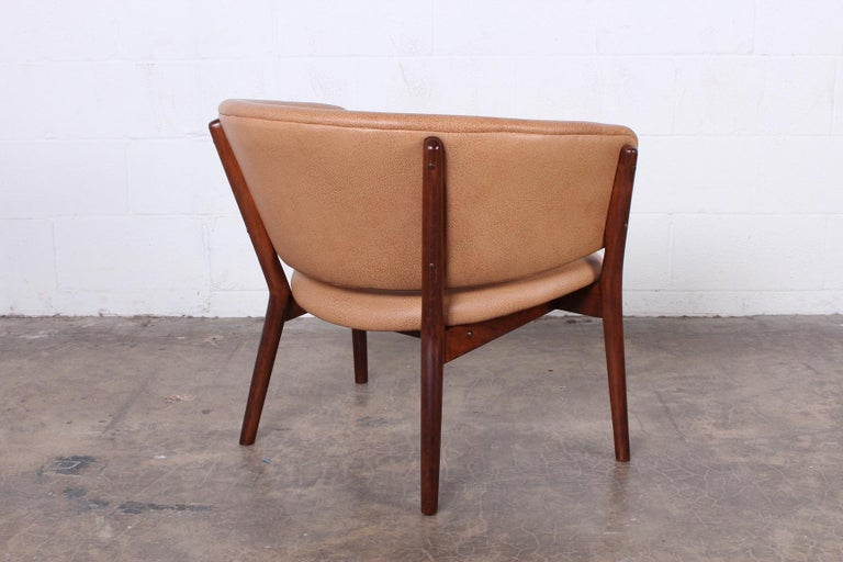 Leather Lounge Chair by Nanna Ditzel For Sale 3
