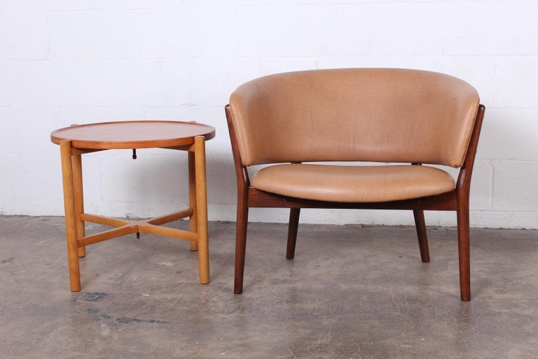Leather Lounge Chair by Nanna Ditzel For Sale 4