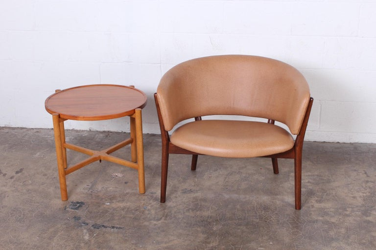Leather Lounge Chair by Nanna Ditzel For Sale 5