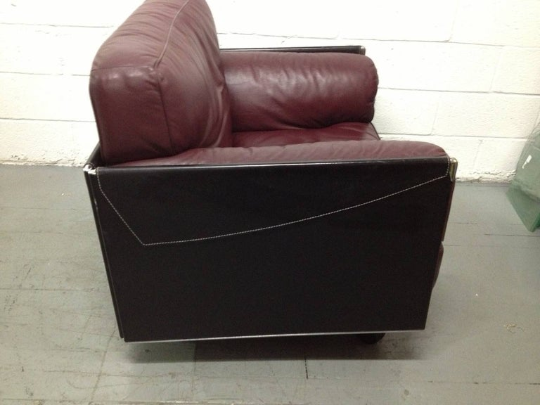 Italian Leather Lounge Chair by Poltrona Frau For Sale