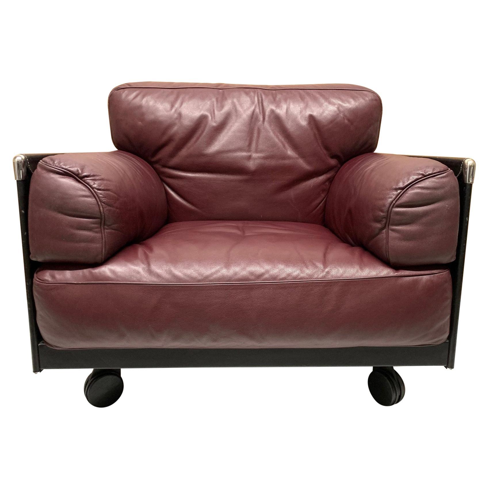 Leather Lounge Chair by Poltrona Frau