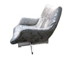 Leather Lounge Chair by Vladimir Kagan