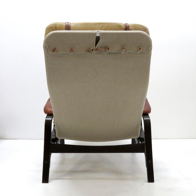 Leather Lounge Chair 'Fenix' by Sam Larsson for DUX, 1970 For Sale 3