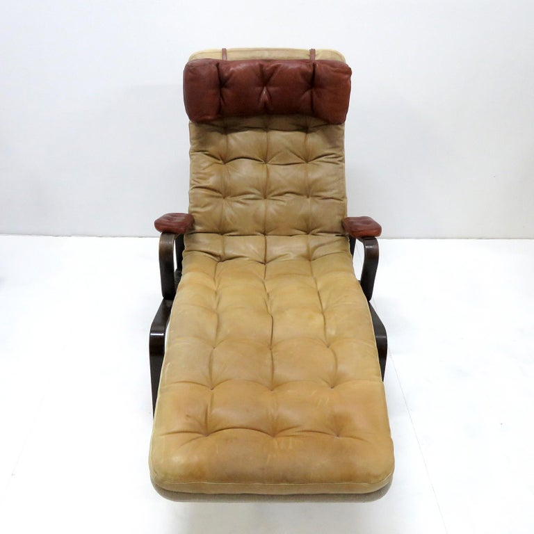 Leather Lounge Chair 'Fenix' by Sam Larsson for DUX, 1970 For Sale 2