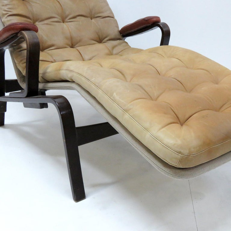 Leather Lounge Chair 'Fenix' by Sam Larsson for DUX, 1970 For Sale 1