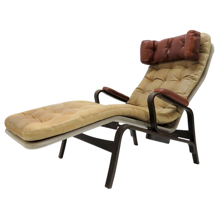 Leather Lounge Chair 'Fenix' by Sam Larsson for DUX, 1970 For Sale