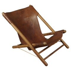 Leather Lounge Chair from France, circa 1970
