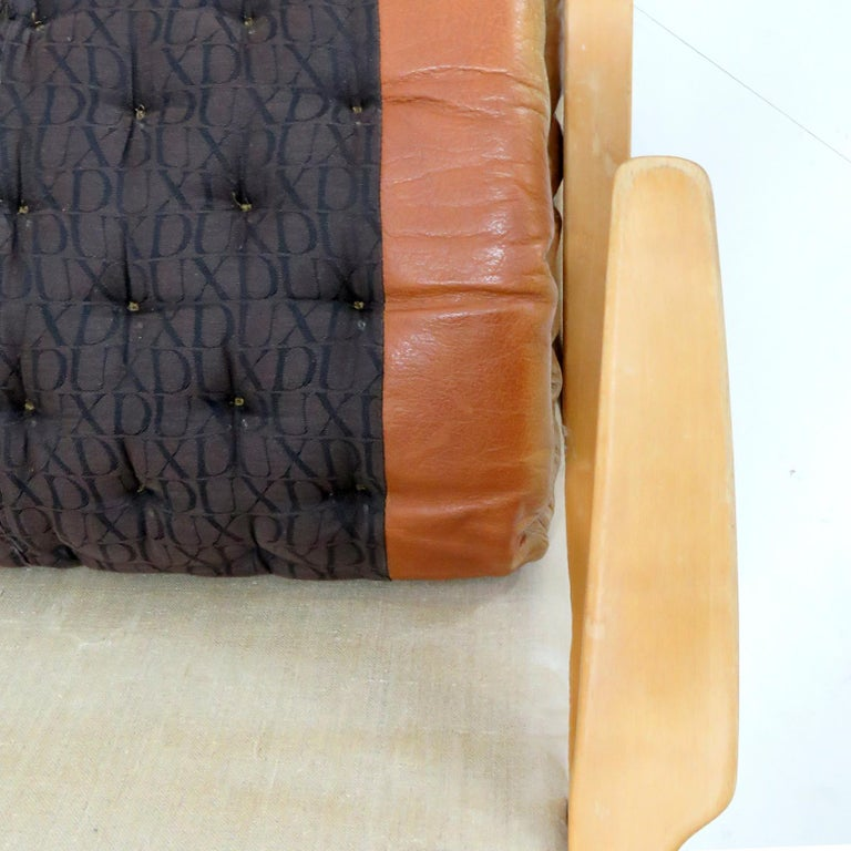 Leather Lounge Chair 'Metro' by Sam Larsson for DUX, 1970 For Sale 4