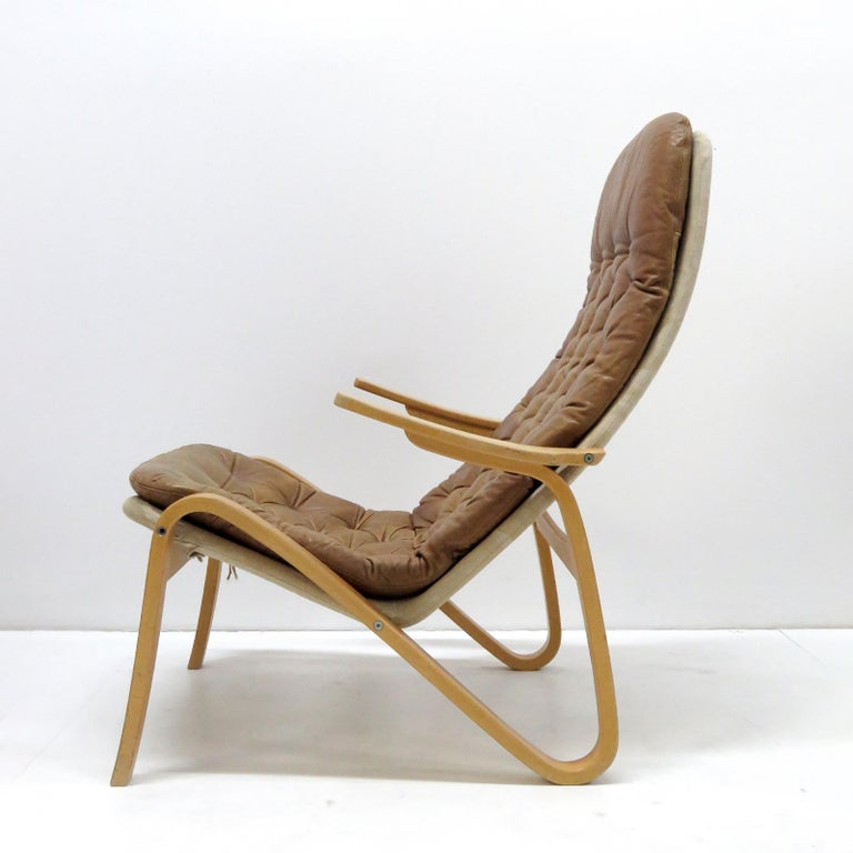 Late 20th Century Leather Lounge Chair 'Metro' by Sam Larsson for DUX, 1970 For Sale