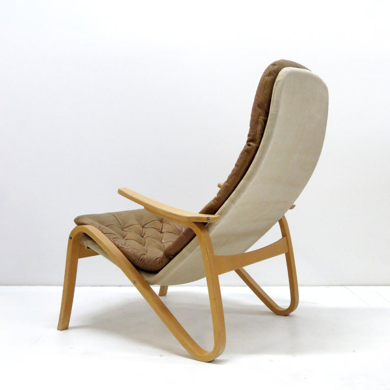 Leather Lounge Chair 'Metro' by Sam Larsson for DUX, 1970 For Sale 1