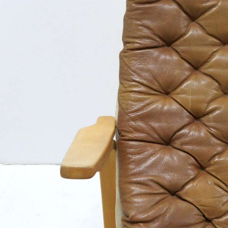 Leather Lounge Chair 'Metro' by Sam Larsson for DUX, 1970 For Sale 3