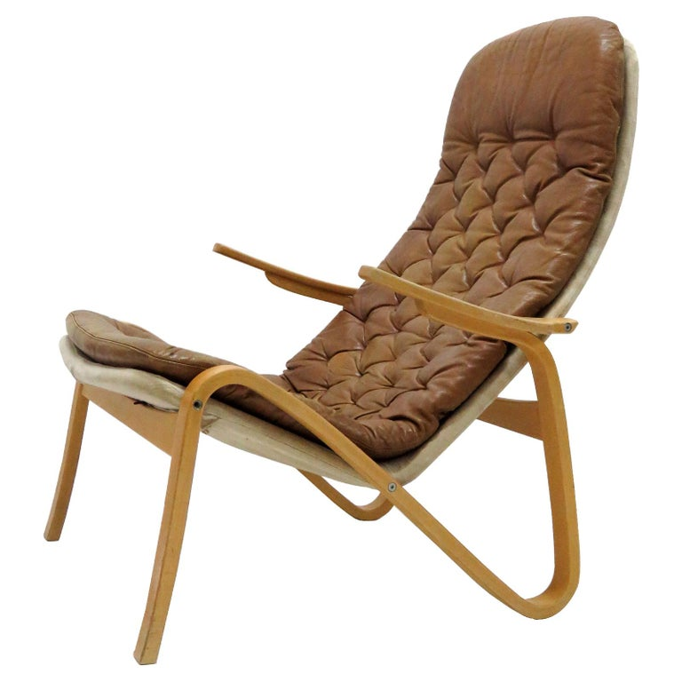 Leather Lounge Chair 'Metro' by Sam Larsson for DUX, 1970 For Sale