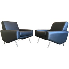 Leather Lounge Chairs by Airborne