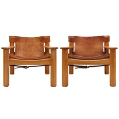 "Leather Lounge Chairs ""Natura"" by Karin Mobring"