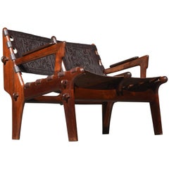 Leather Loveseat by Angel Pazmino for Muebles De Estilo circa 1960 Ecuador