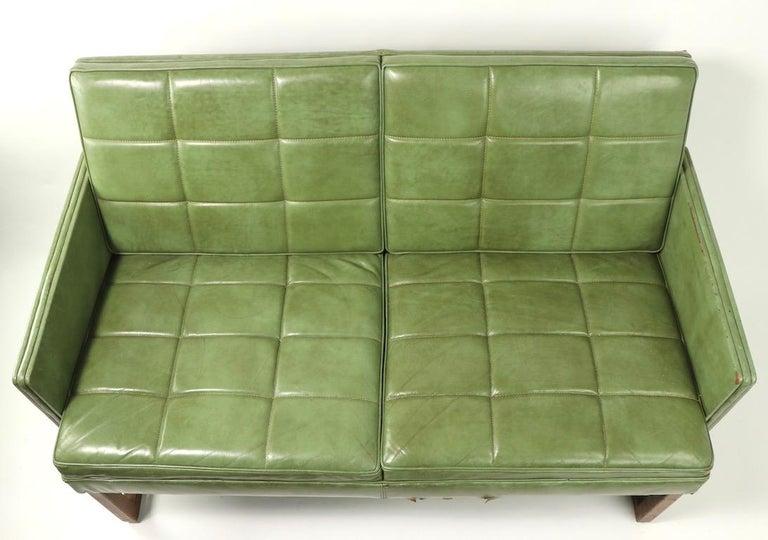 Leather Loveseat Sofa by Gunlocke For Sale 6