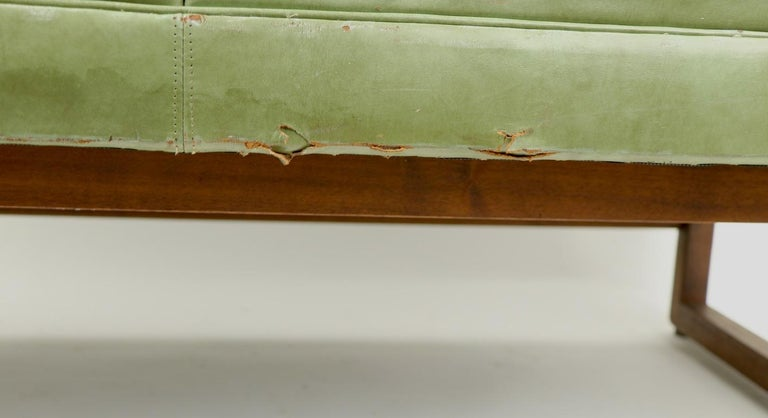 Leather Loveseat Sofa by Gunlocke For Sale 9