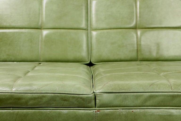 Leather Loveseat Sofa by Gunlocke For Sale 10