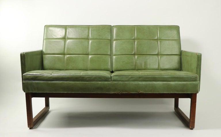 American Leather Loveseat Sofa by Gunlocke For Sale