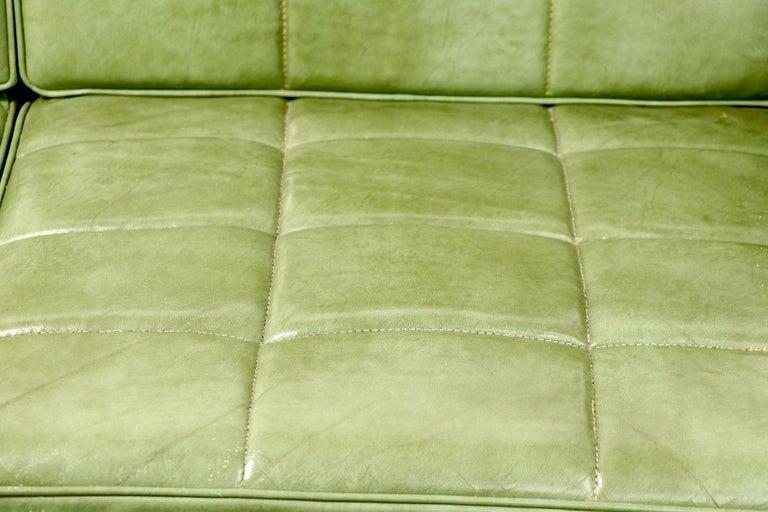 Leather Loveseat Sofa by Gunlocke For Sale 1