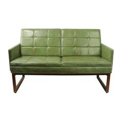 Leather Loveseat Sofa by Gunlocke