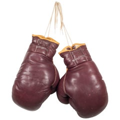 Leather MacGregor Boxing Gloves, circa 1950