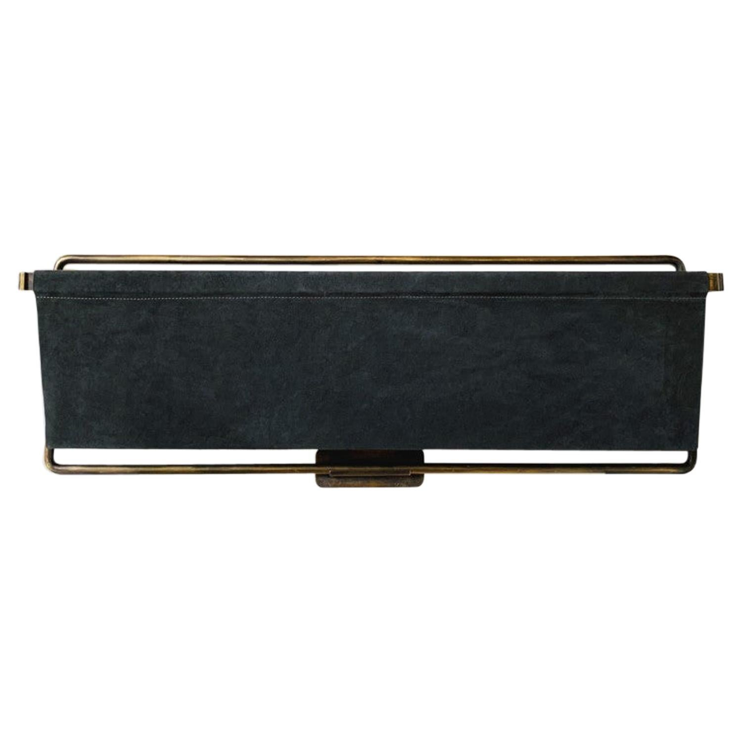 Leather Magazine Rack by Charlotte Besson-Oberlin