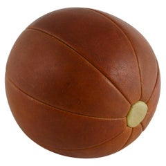 Leather Medicine Ball, Germany, circa 1950s