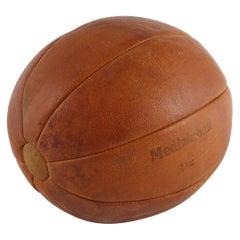 "Leather ""Medizinball 3 kg"", Medicine Ball, Germany, circa 1930s"