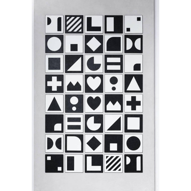 Italian Leather Memory Game with 40 Cards For Sale