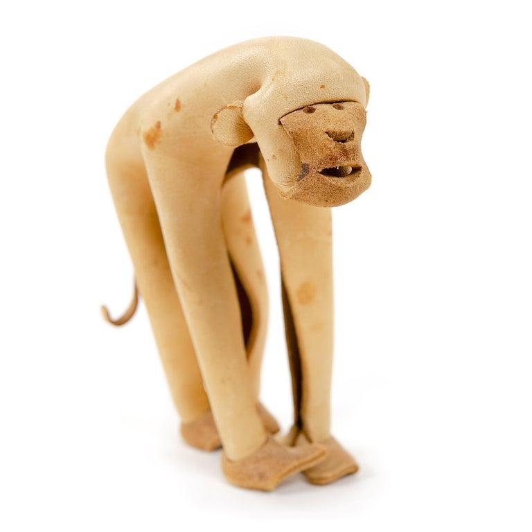 German Leather Monkey by Deru For Sale