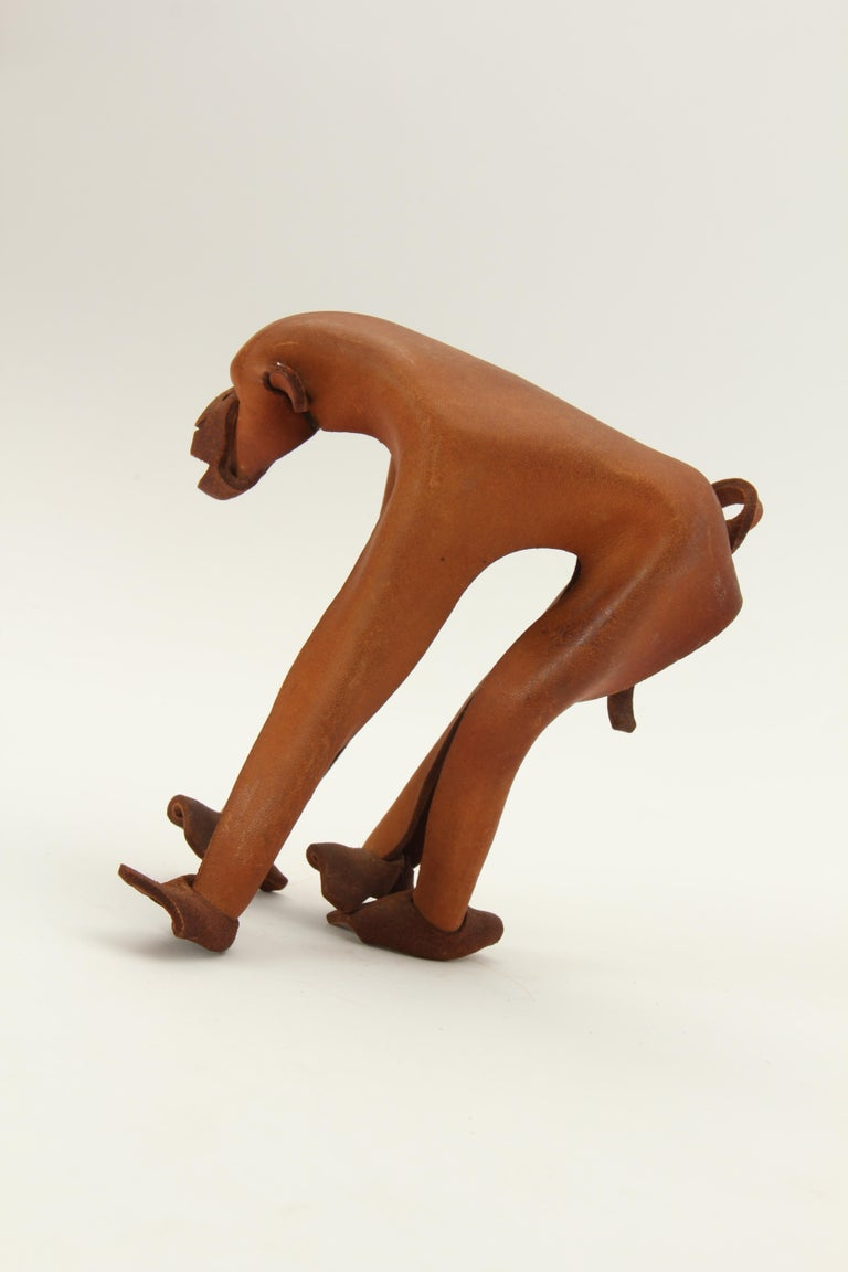 Leather Monkey by Deru In Good Condition For Sale In New York, NY