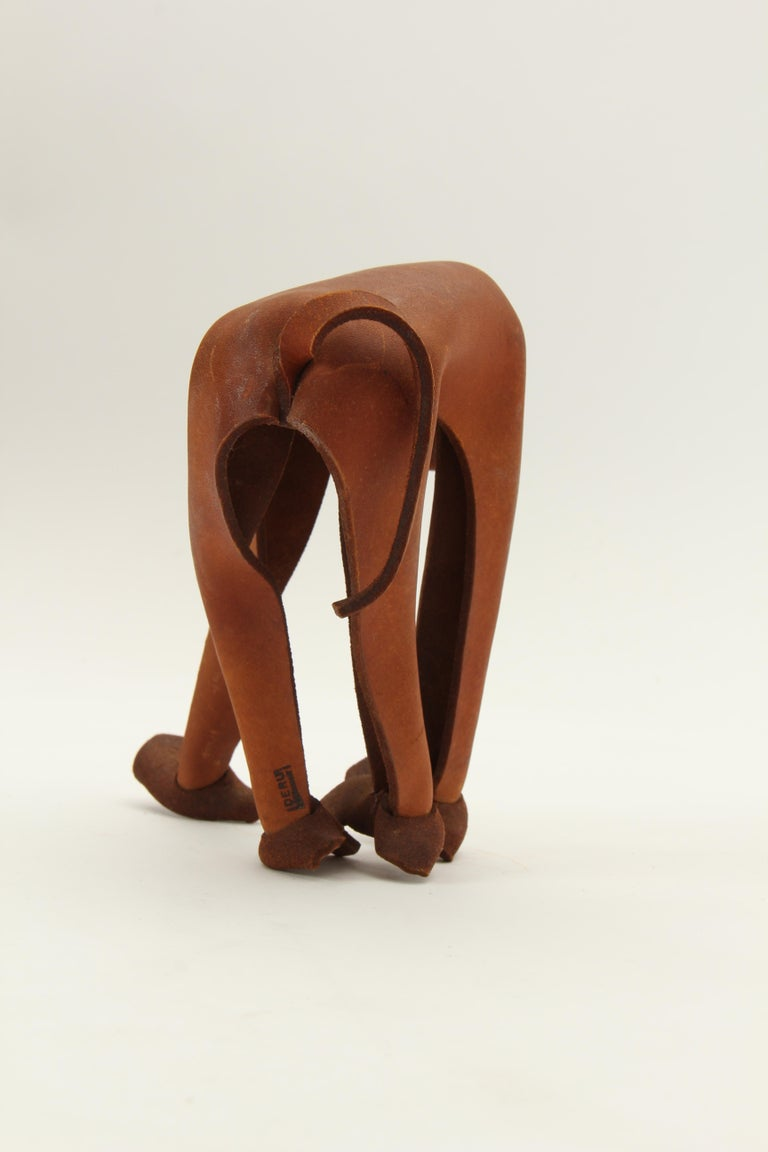 Mid-20th Century Leather Monkey by Deru For Sale