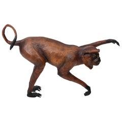 Leather Monkey Figure