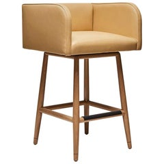 Leather Moreno Counterstool with Swivel by Lawson-Fenning