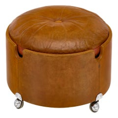 Leather Ottoman by Poltrona Frau