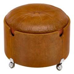 Leather Ottoman by Poltrona Frau