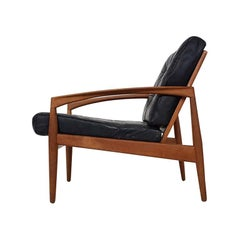 Leather Paper Knife Lounge Chair by Kai Kristiansen for Magnus Olesen Durup 1955